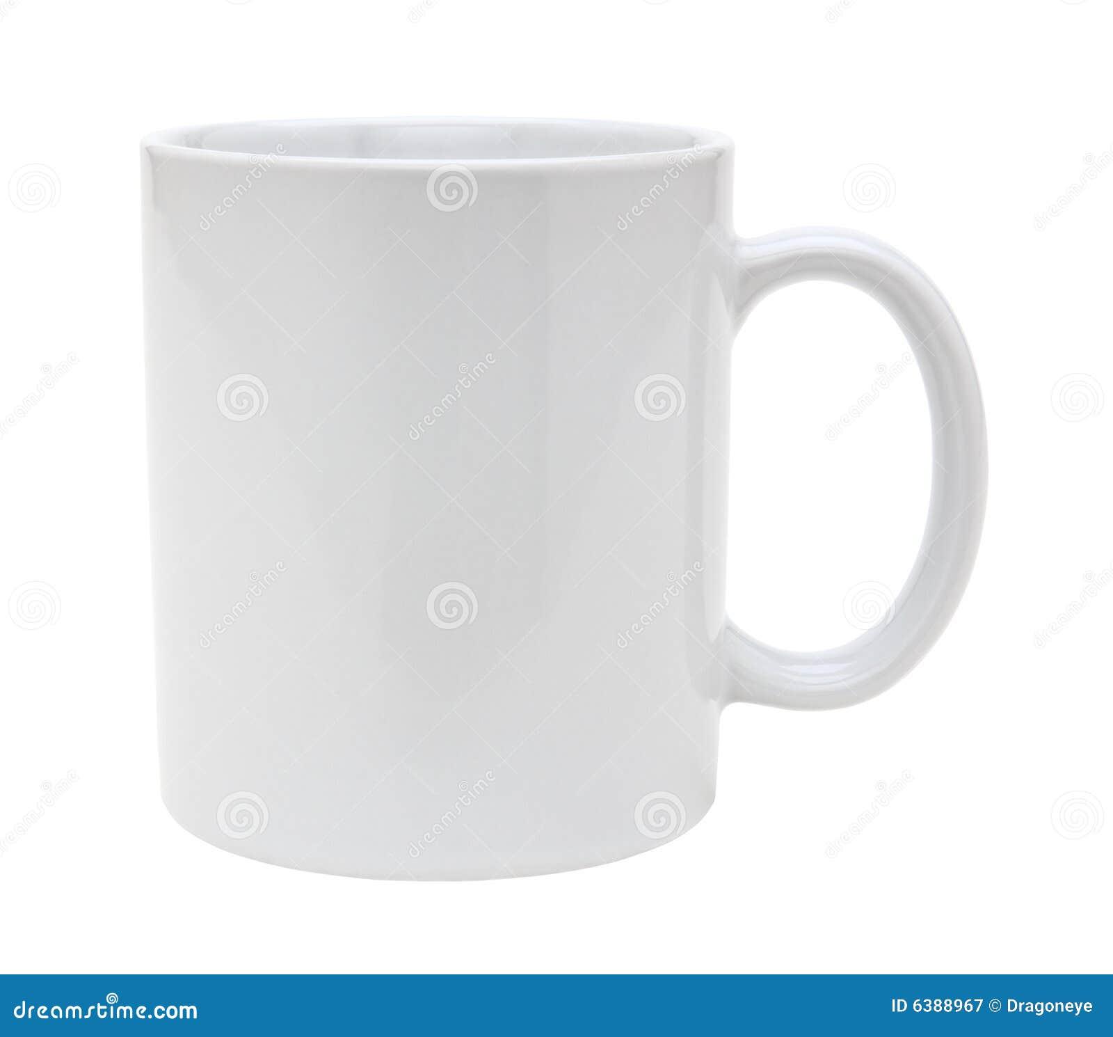 Découpage blanc de tasse