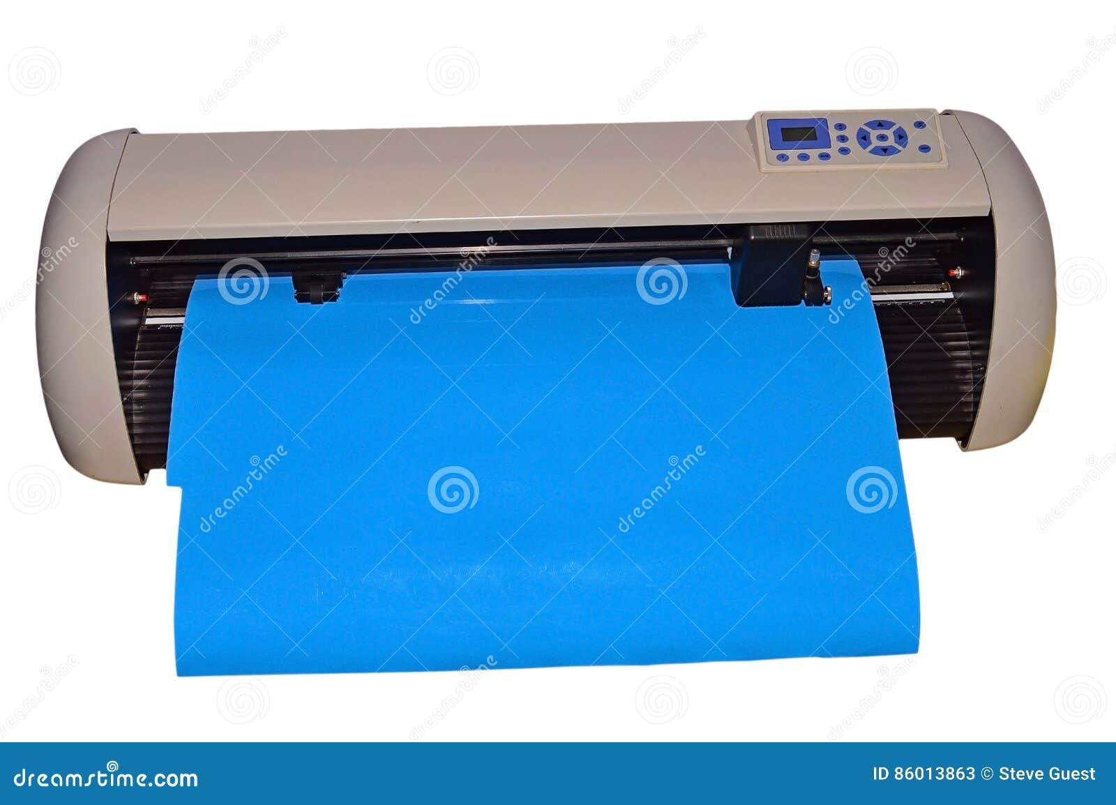 Découpeuse de traceur de vinyle D isolement avec le dossier de png joint
