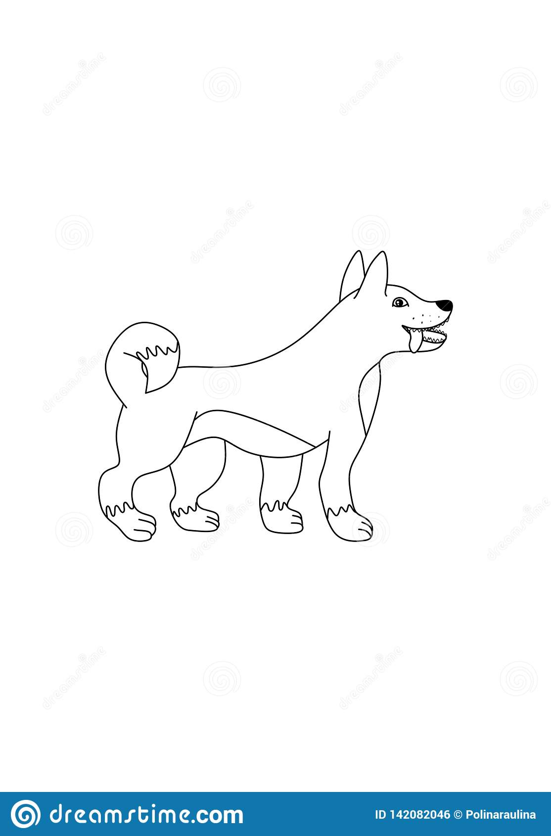 Decrit Dessin Vecteur De Chien De Schema Photo Stock