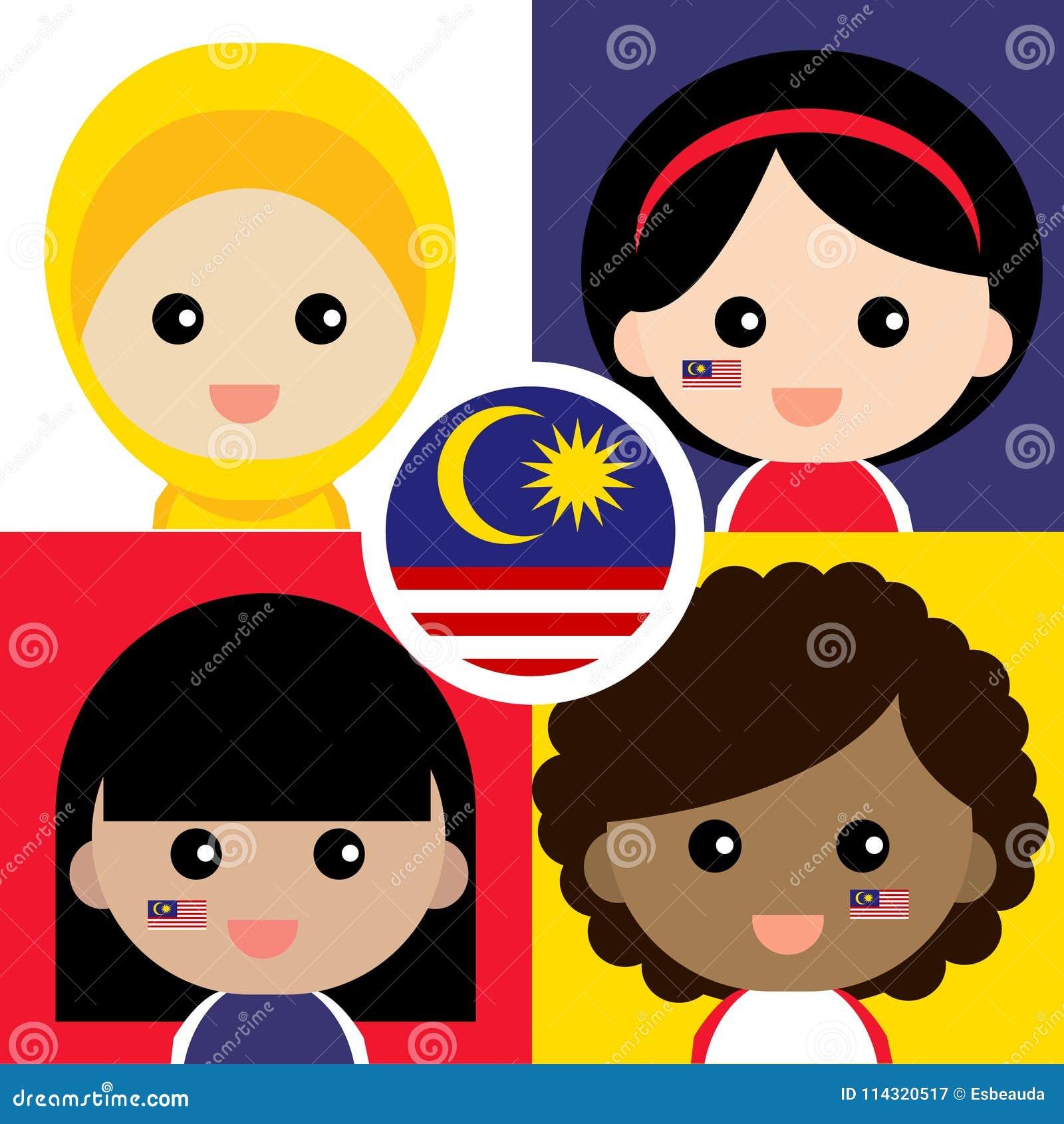 Défenseur malaisien mignon et gai
