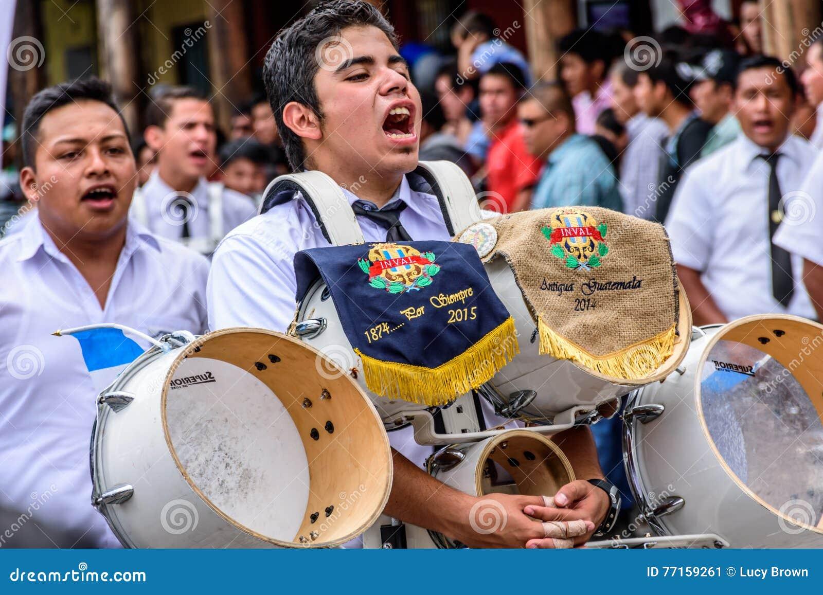 Défilé de Jour de la Déclaration d Indépendance, Antigua, Guatemala