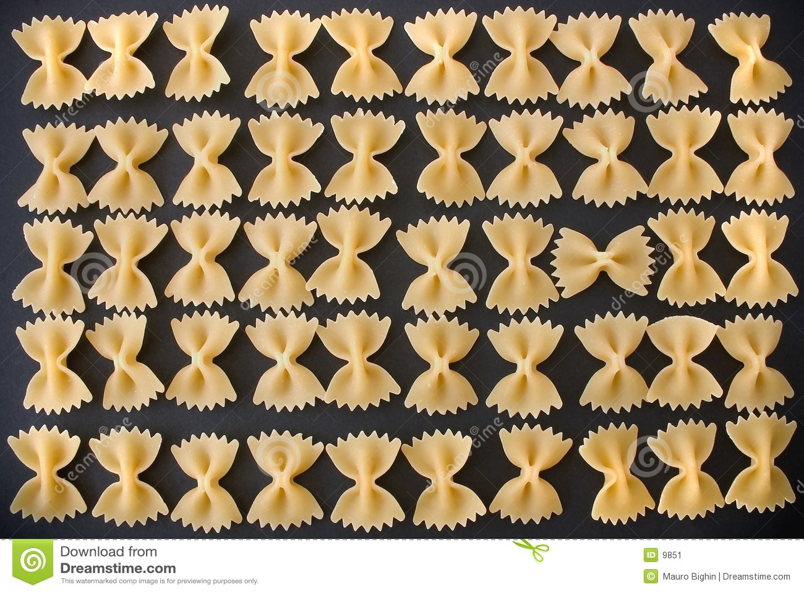 Défilé de pâtes - macaronis