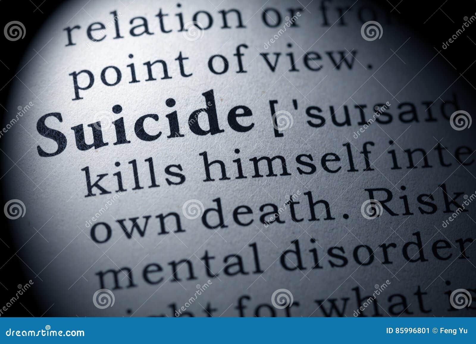 Définition de suicide