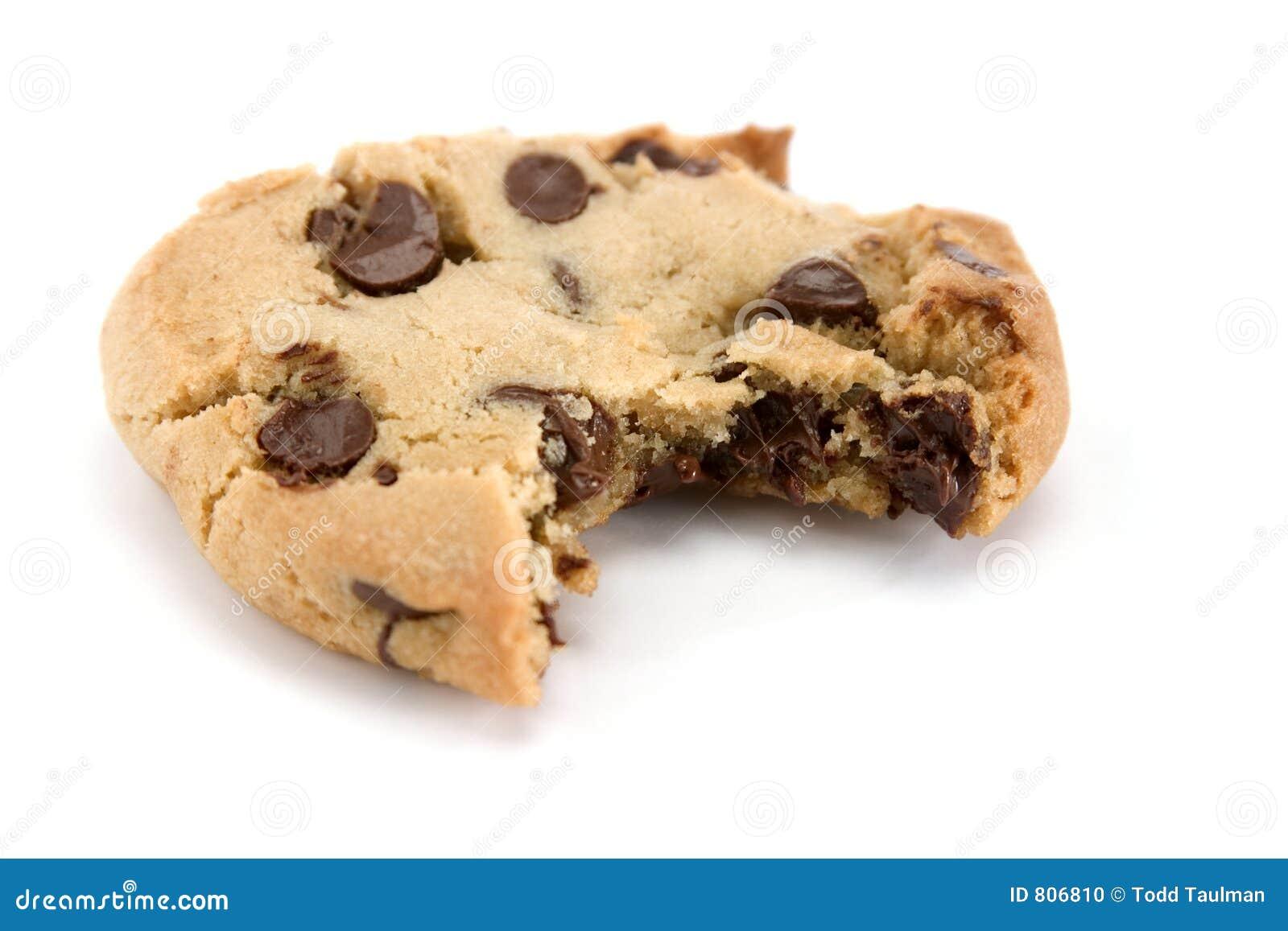 Dégagement hors de biscuit de puce de chocolat