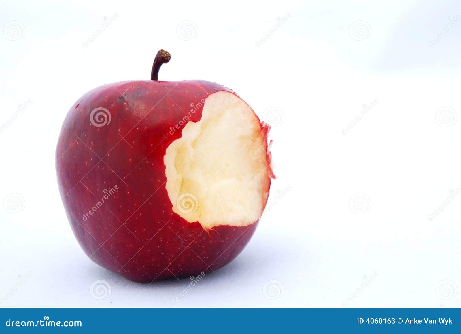 Dégagement rouge de pomme