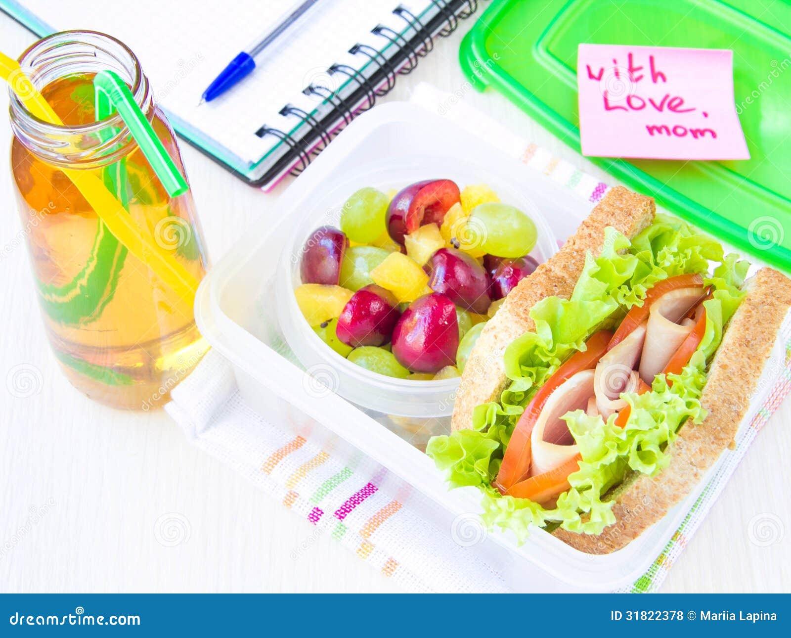 Déjeuner De Bento Pour Votre Enfant à Lécole Boîte Avec Un