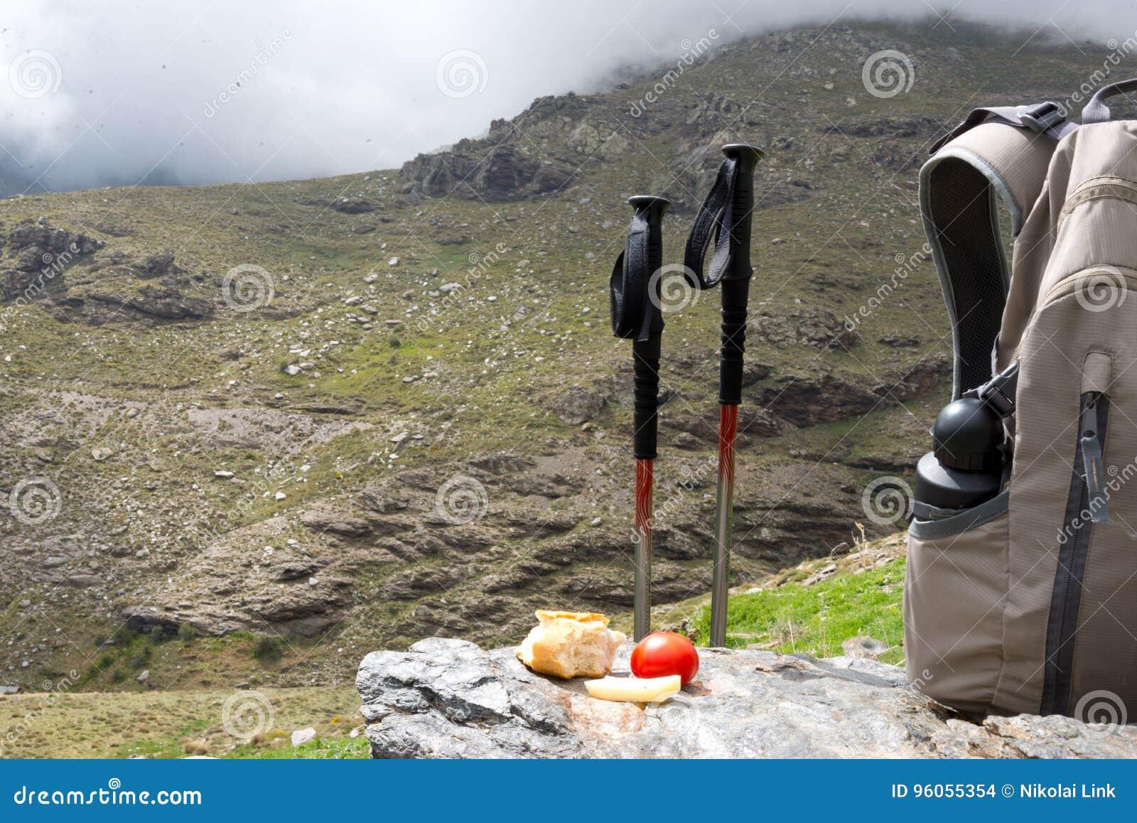 Déjeuner de trekking à la sierra Nevada, Espagne