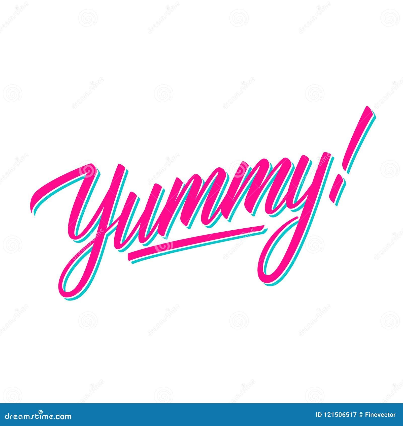 Délicieux ! inscription manuscrite Typographie créative pour des bannières, restaurant, menu de café, marché de nourriture