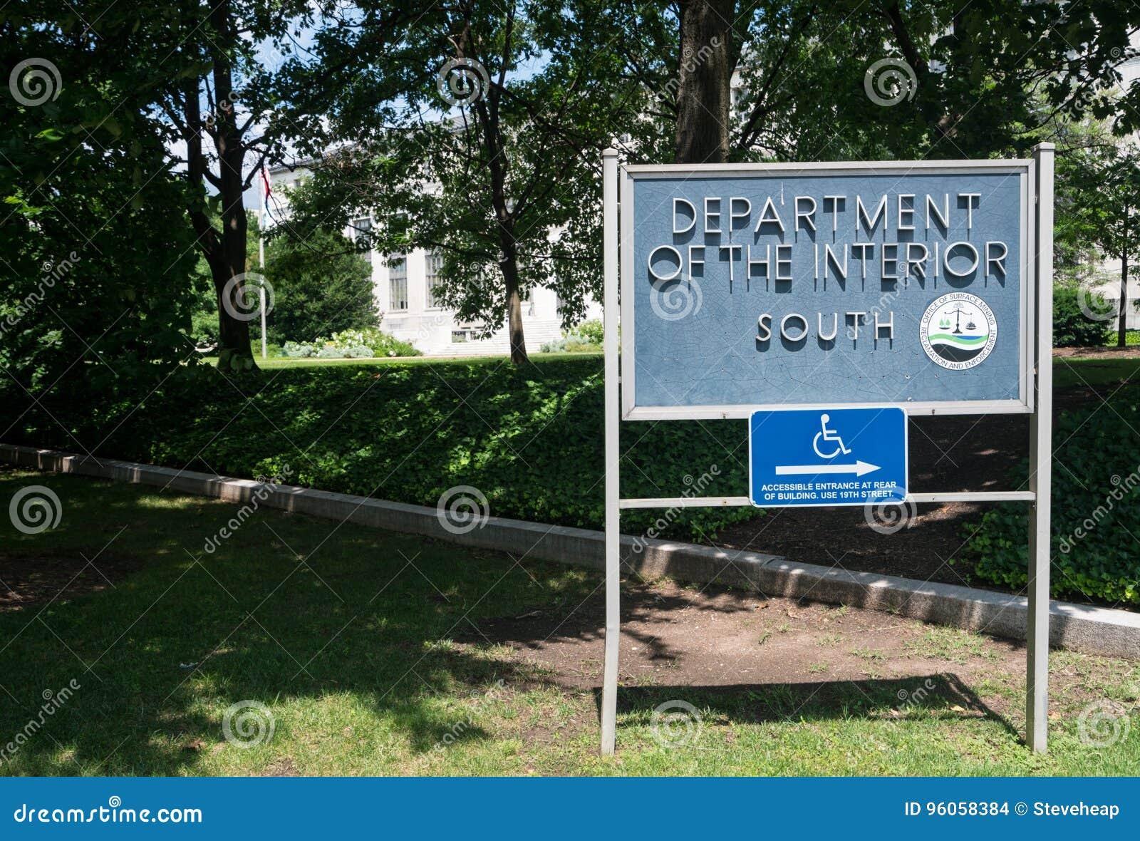 Département du connexion Washington d intérieur