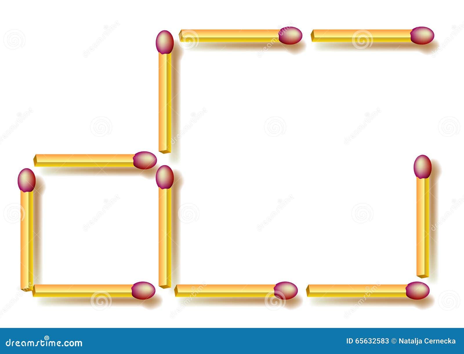 Déplacez trois allumettes pour faire trois places Puzzle de logique