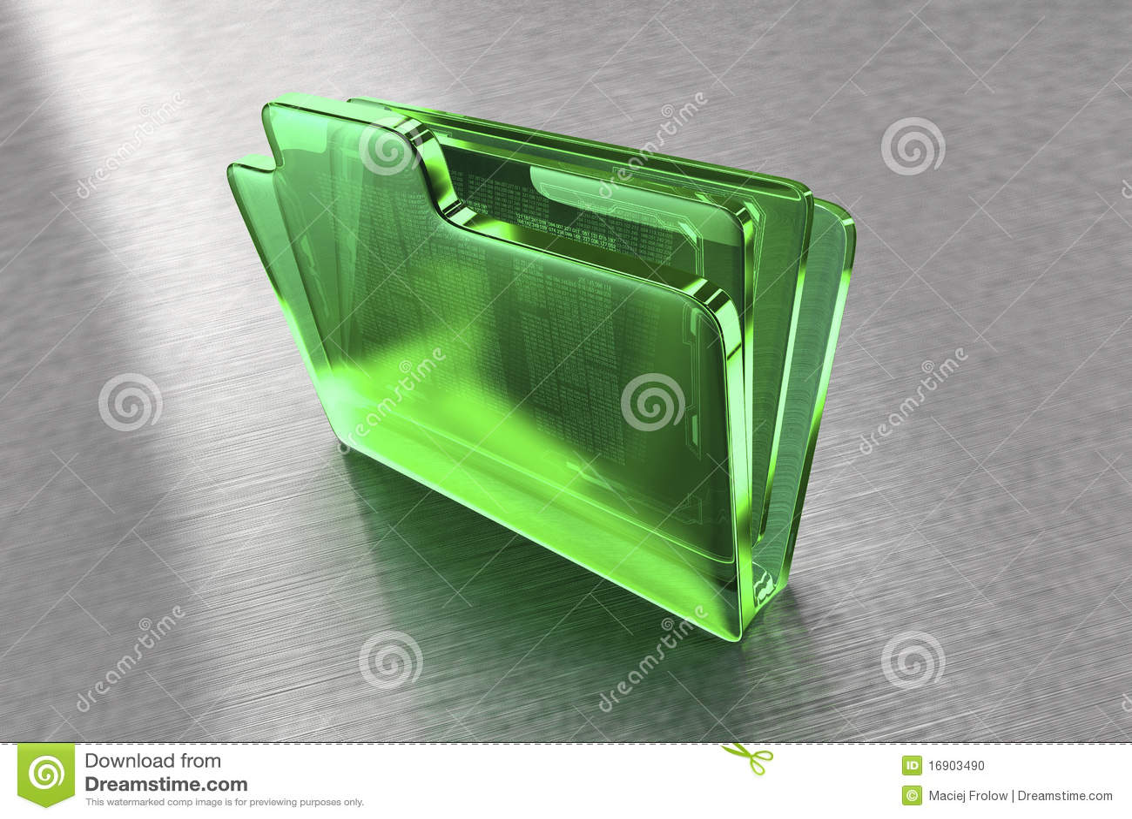 Dépliant de fichier en verre vert