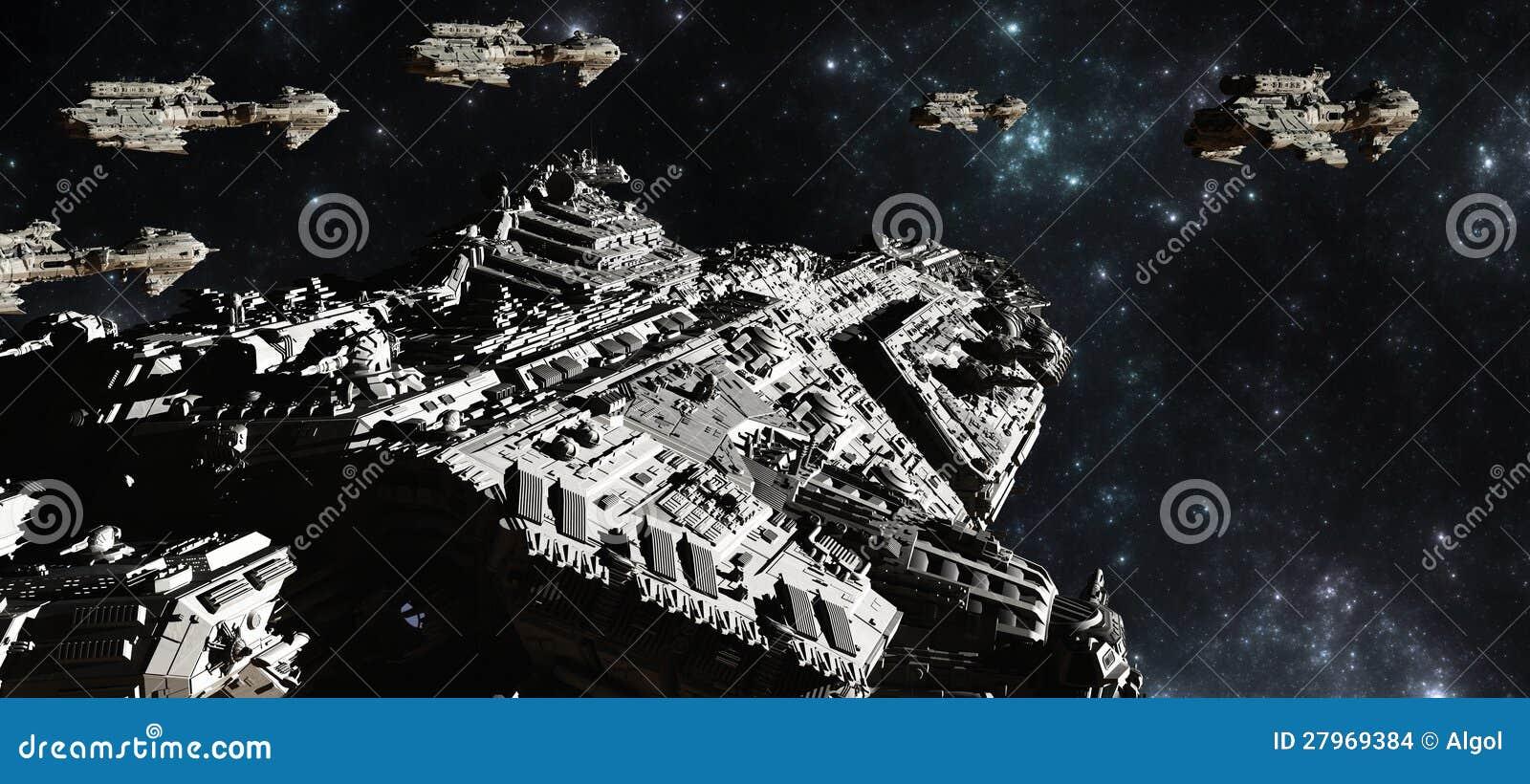 Déploiement de flotte de bataille de l espace