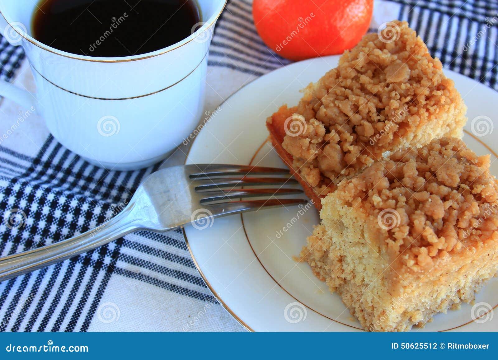 Désert de gâteau de miette de petit déjeuner