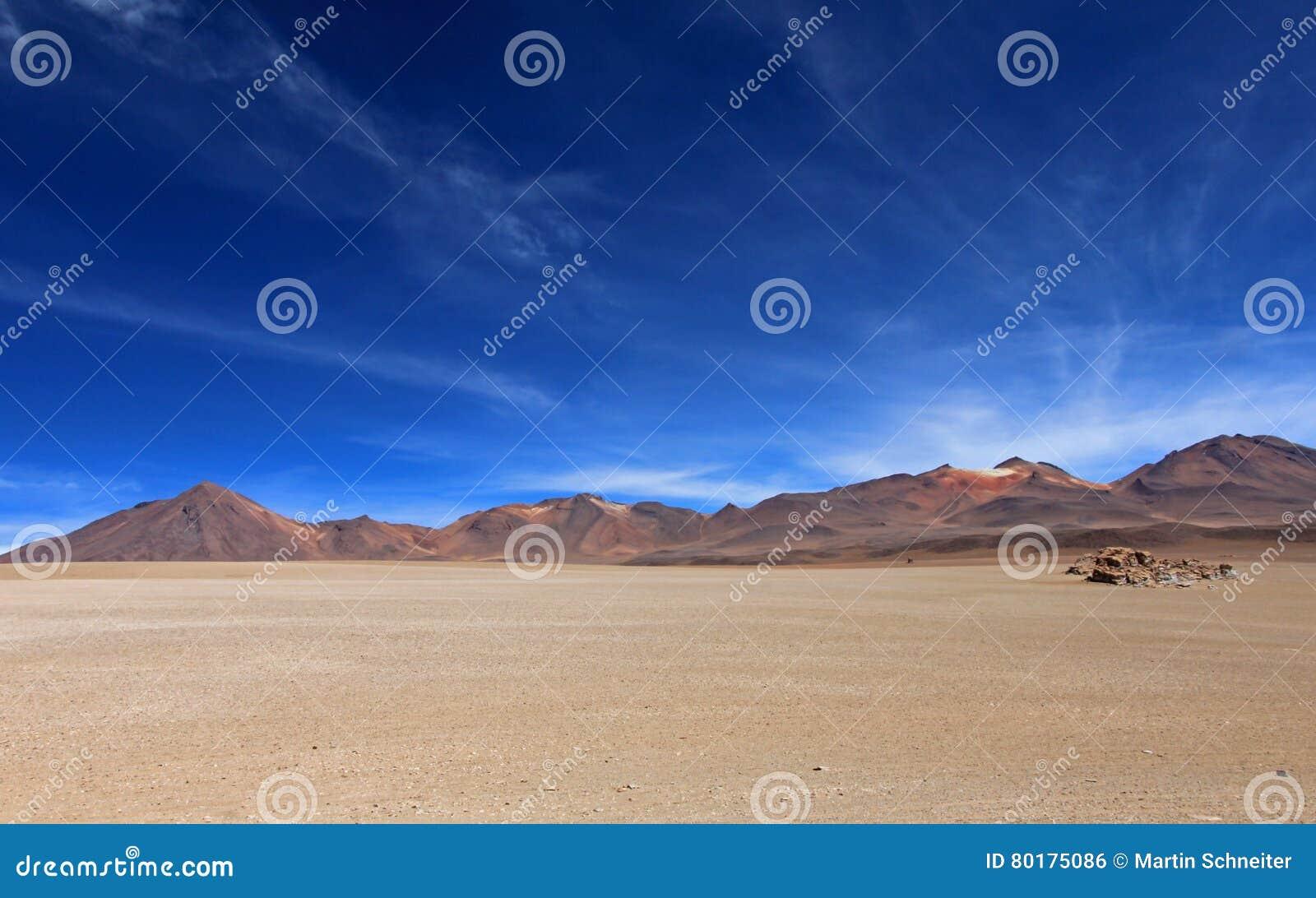 Désert de Salvador Dali et montagnes colorées en Bolivie