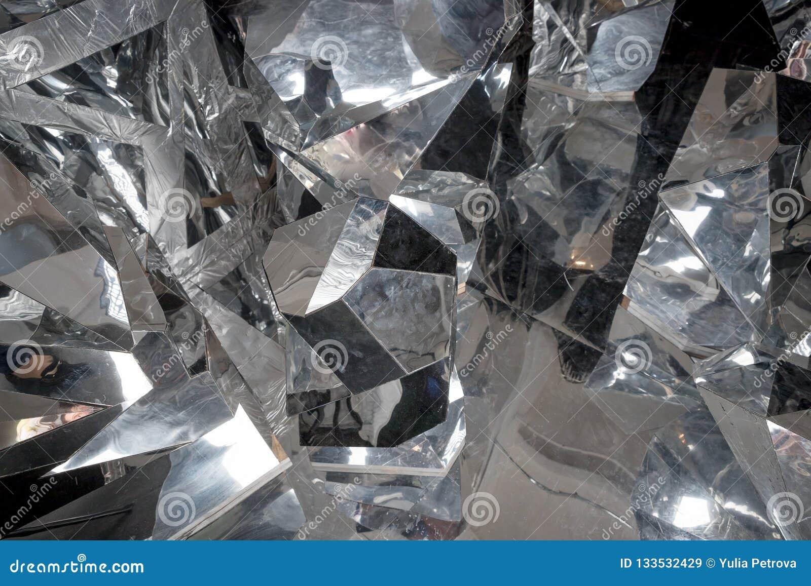 Détail abstrait de peu de grands morceaux de glace cassée glace, blocs écrasés de glace Surface cassée de glace Texture épaisse d