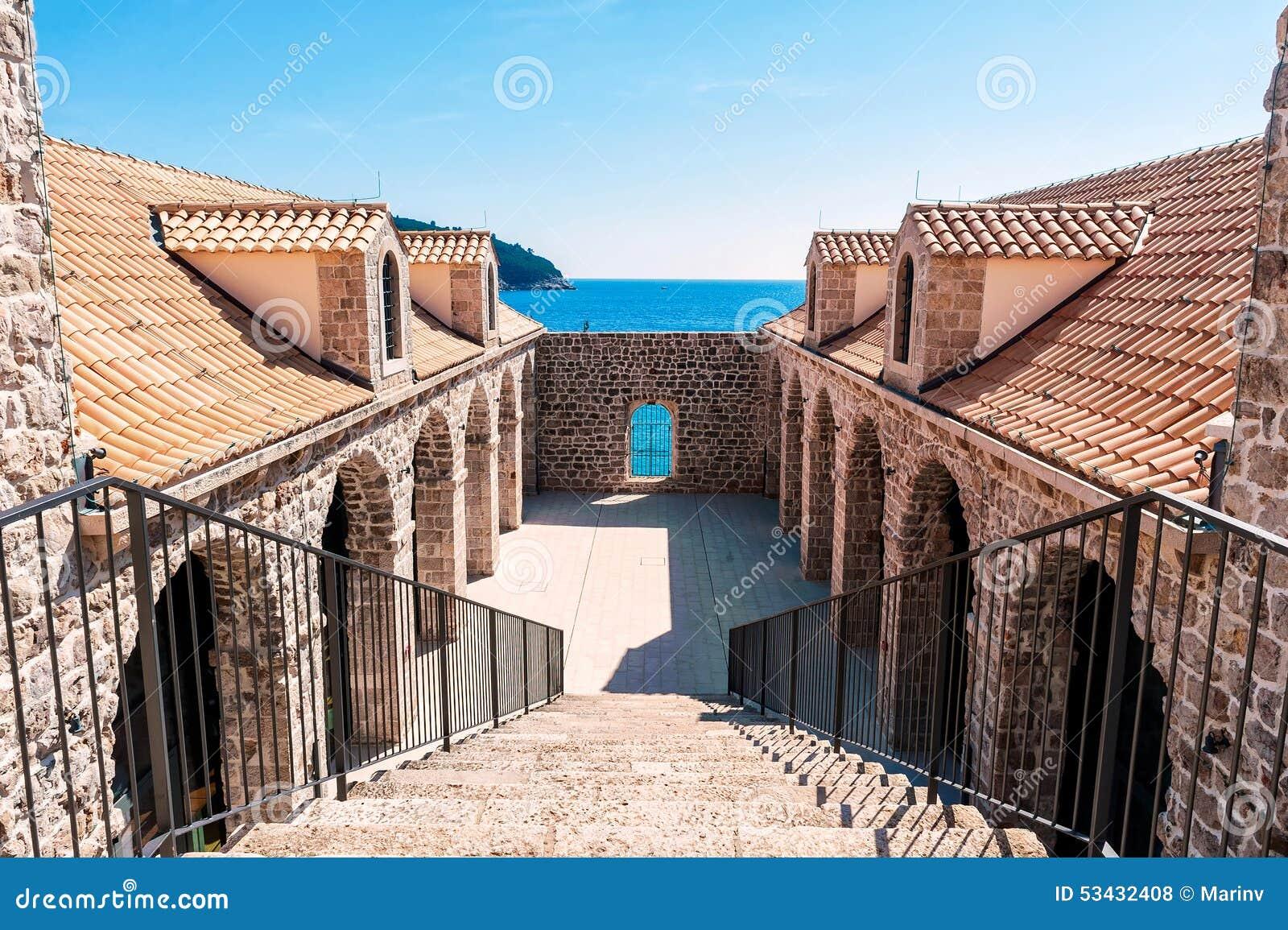 Détail architectural à l intérieur des murs de la vieille ville Dubrovnik