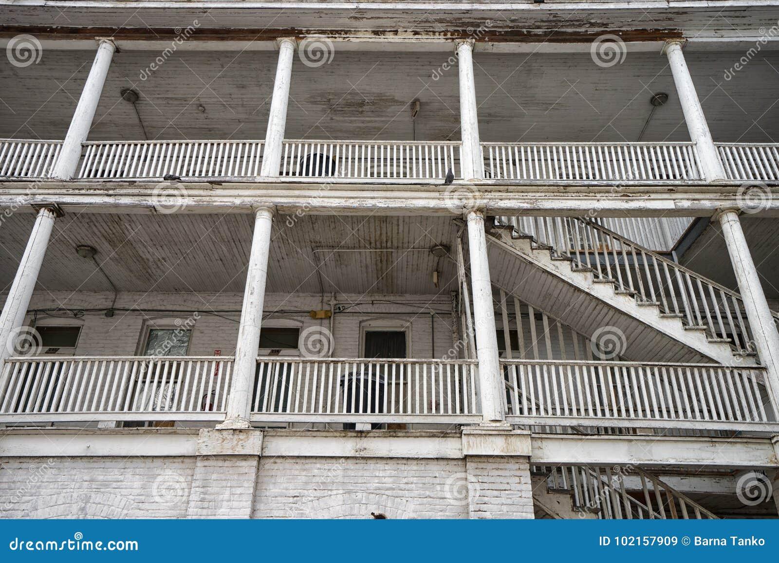 Détail architectural de l hôtel de cintreuse à Laredo le Texas