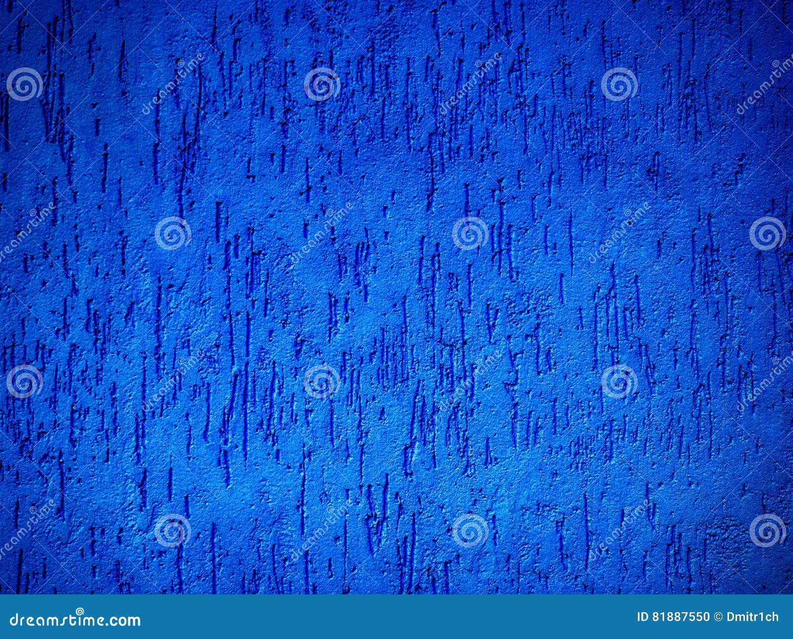 Détail Dun Texturisé Mur Extérieur De Bleu Photo Stock