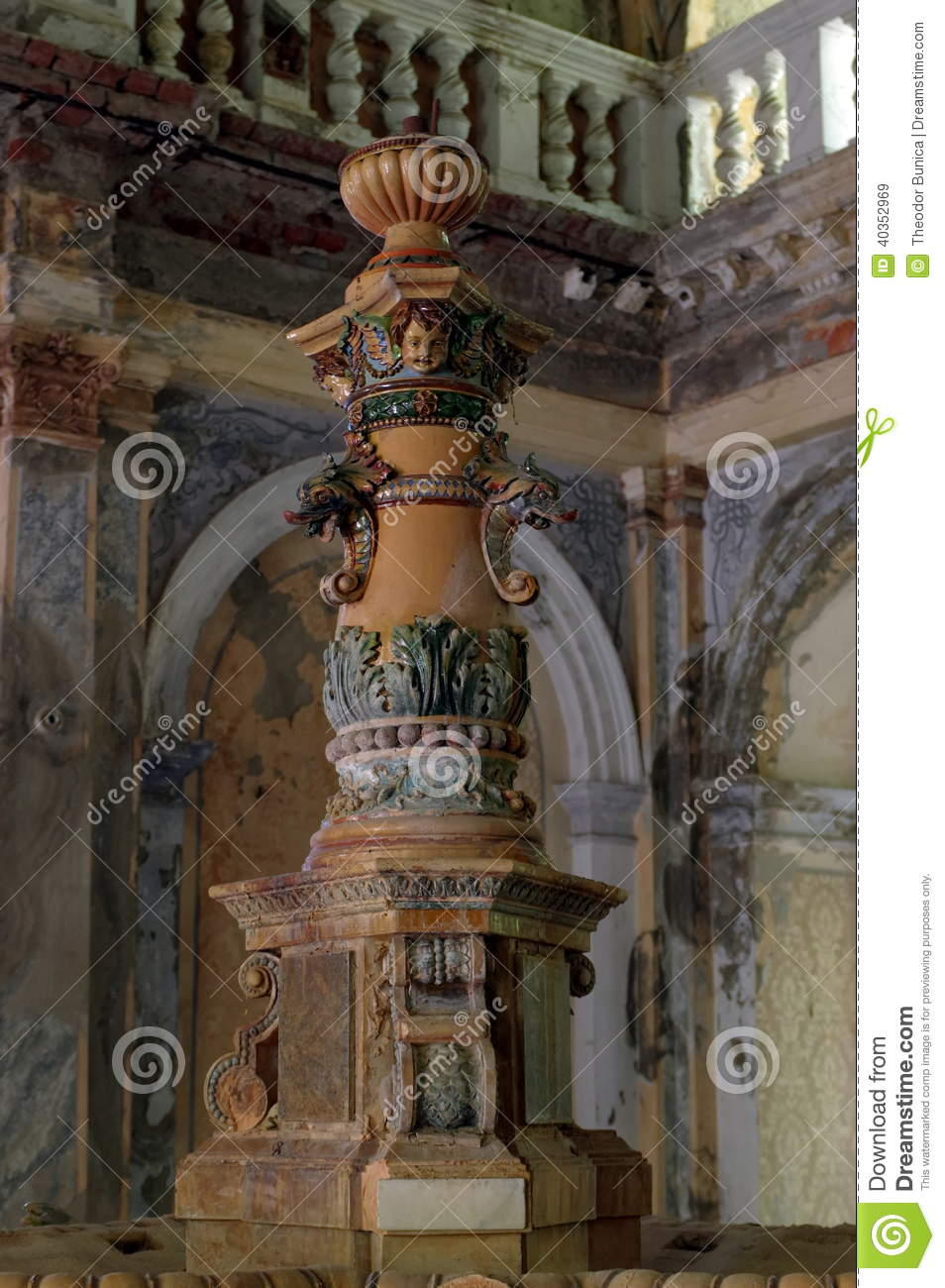 D tail d 39 une fontaine du 19 me si cle baile photo stock for Interieur 19eme siecle