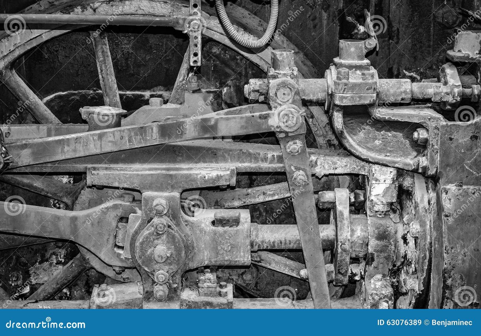 Download Détail D'une Vieille Locomotive Image stock - Image du métal, roue: 63076389