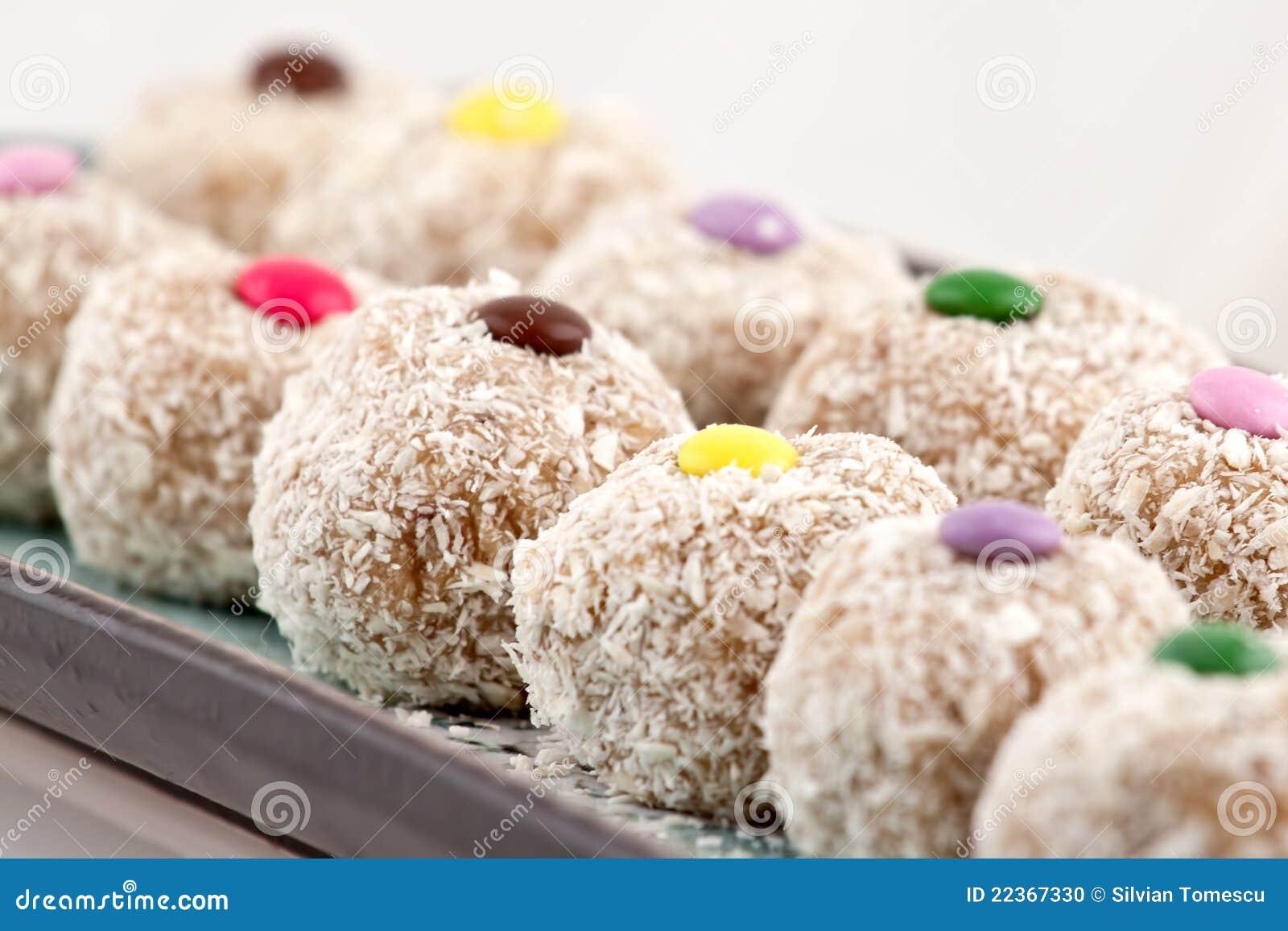 Détail de biscuits de noix de coco