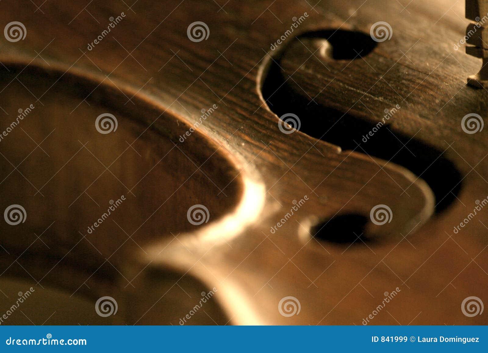 Détail de défilement du violon f