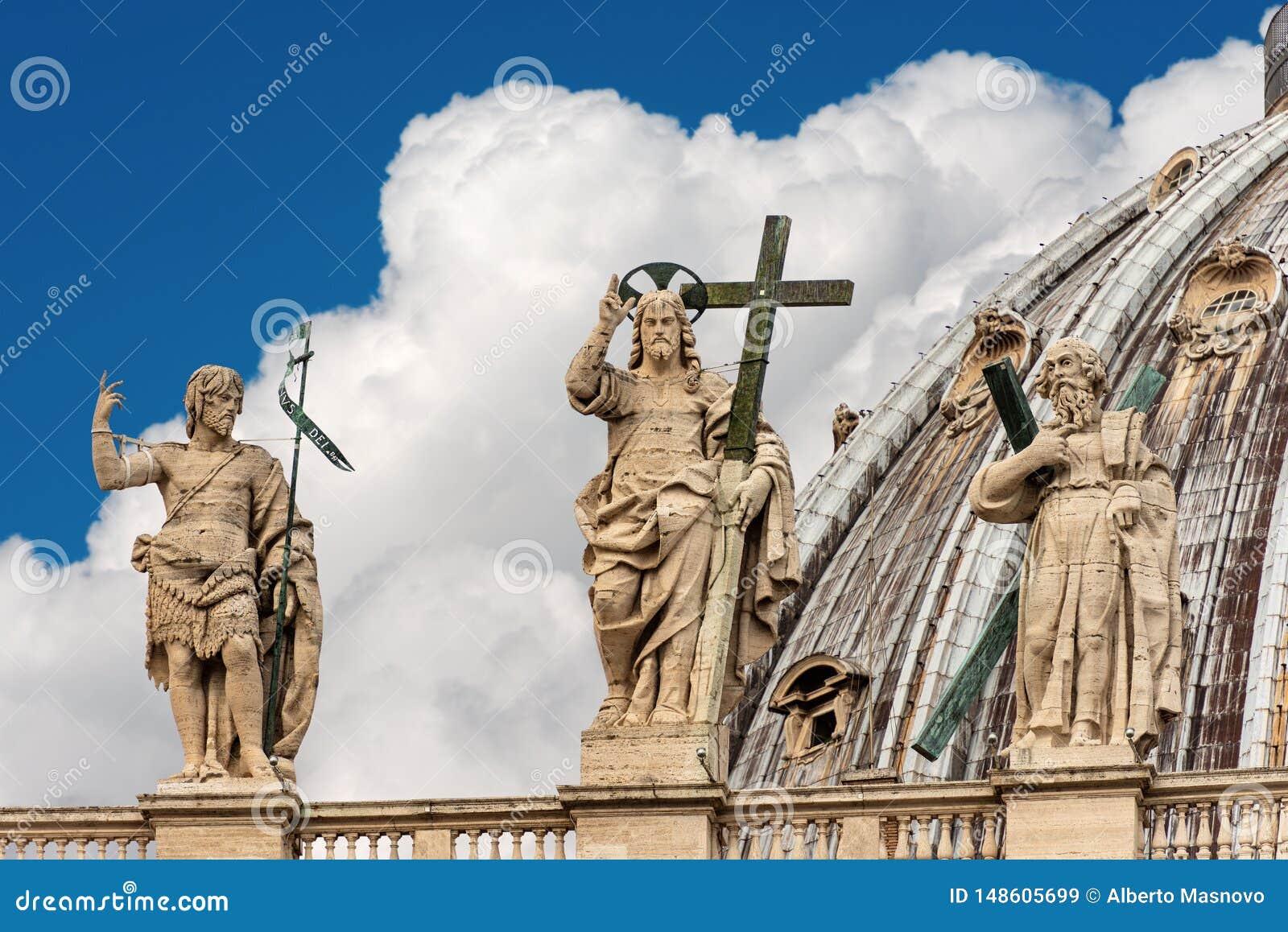 Détail de la basilique de St Peter - Ville du Vatican