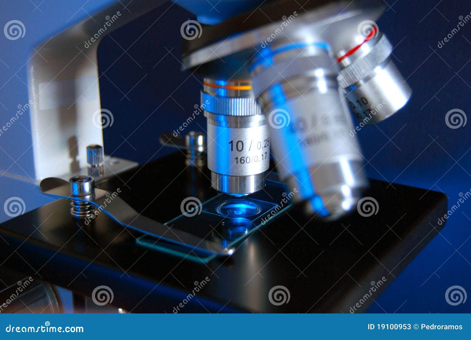Détail de microscope