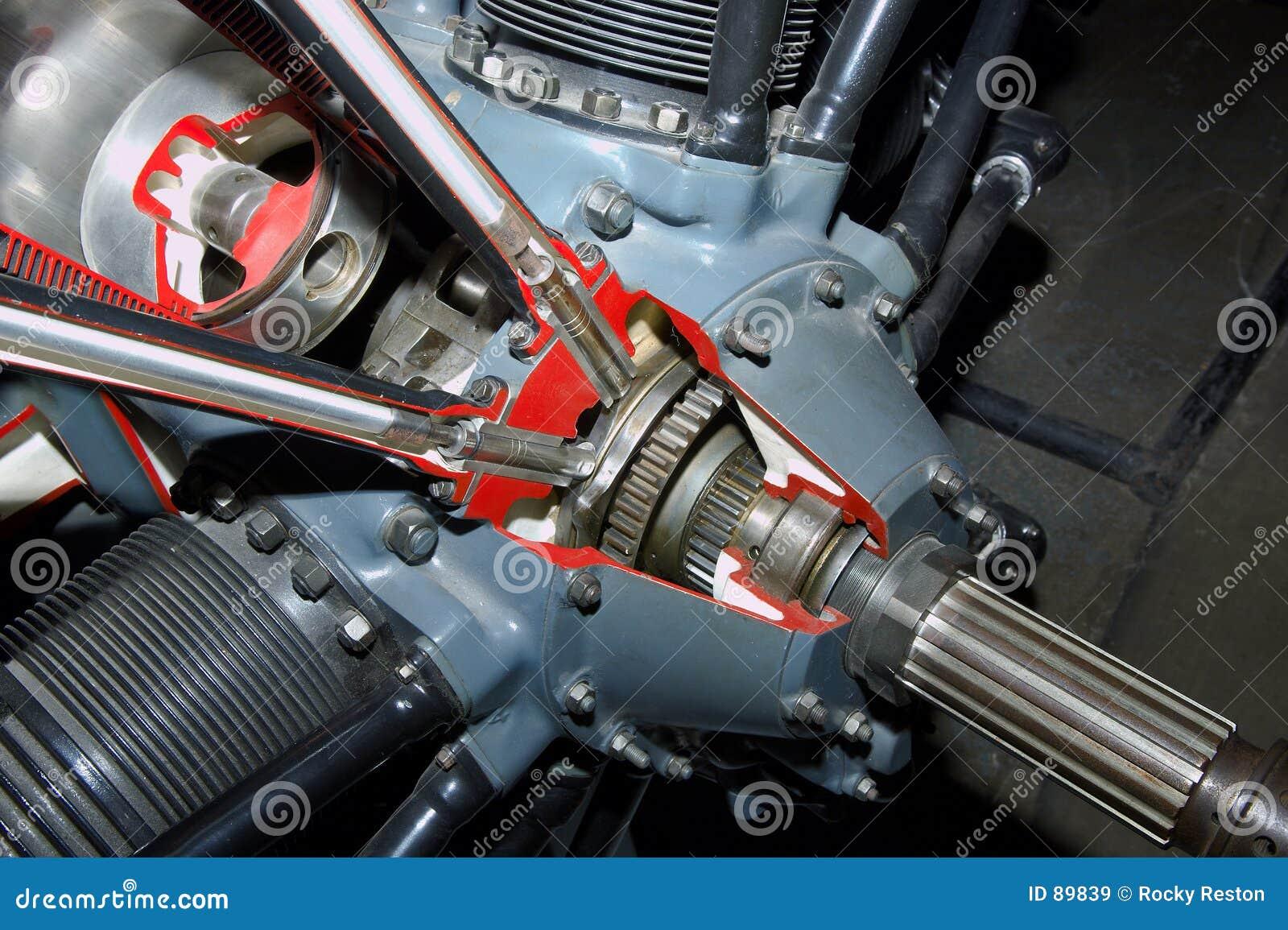 Détail de moteur à piston