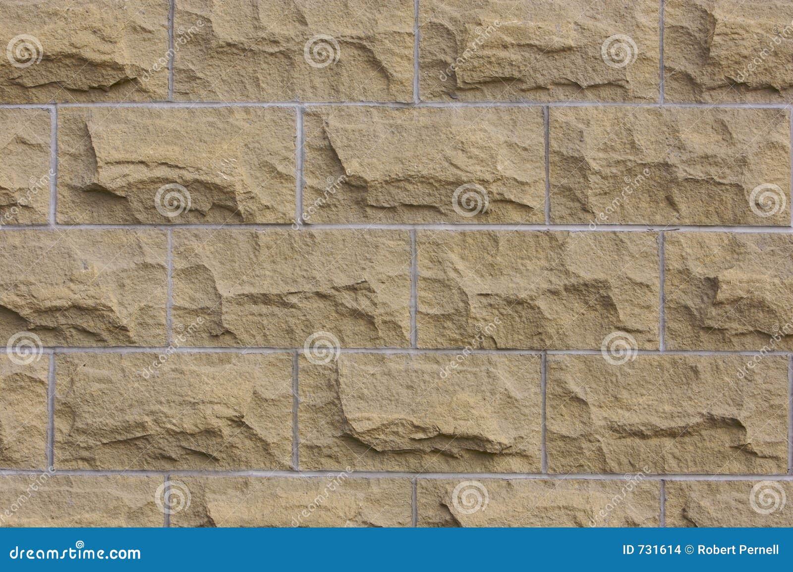 Détail de mur de bloc