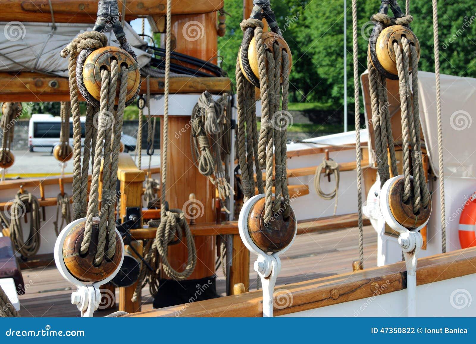 Détail de navire de navigation