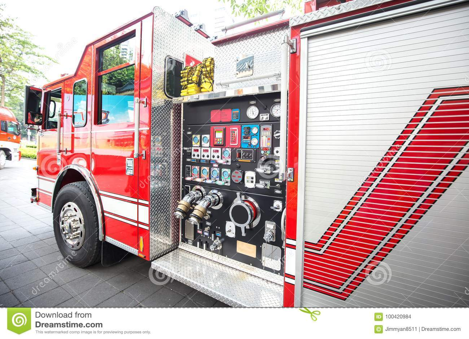 Détail de pompe à incendie