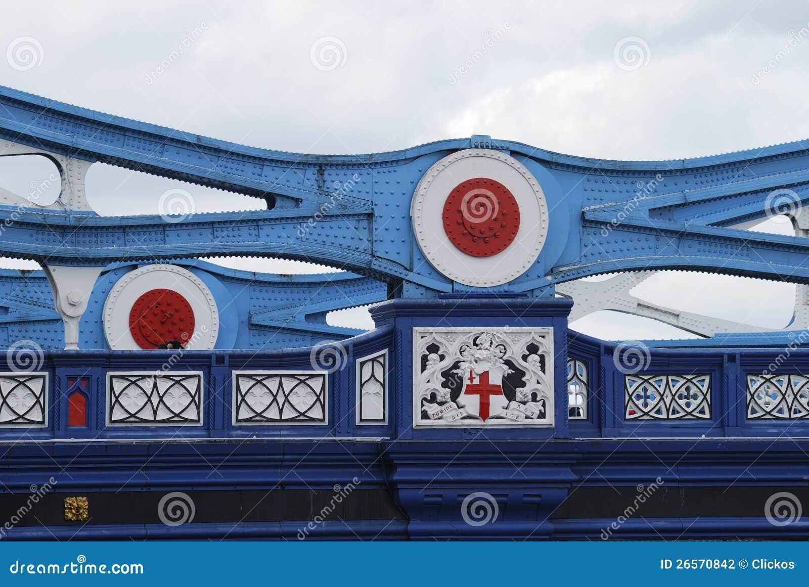 Détail de poutre sur la passerelle de tour. Londres. LE R-U