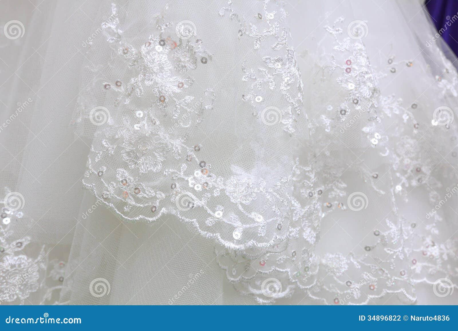 Détail de robe de mariage
