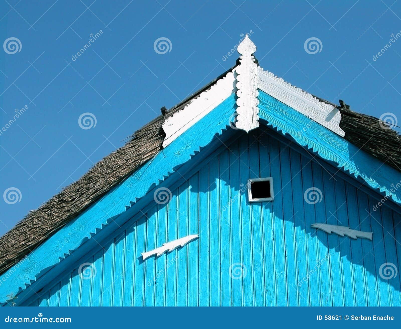 Download Détail de toit image stock. Image du delta, bleu, tradition - 58621