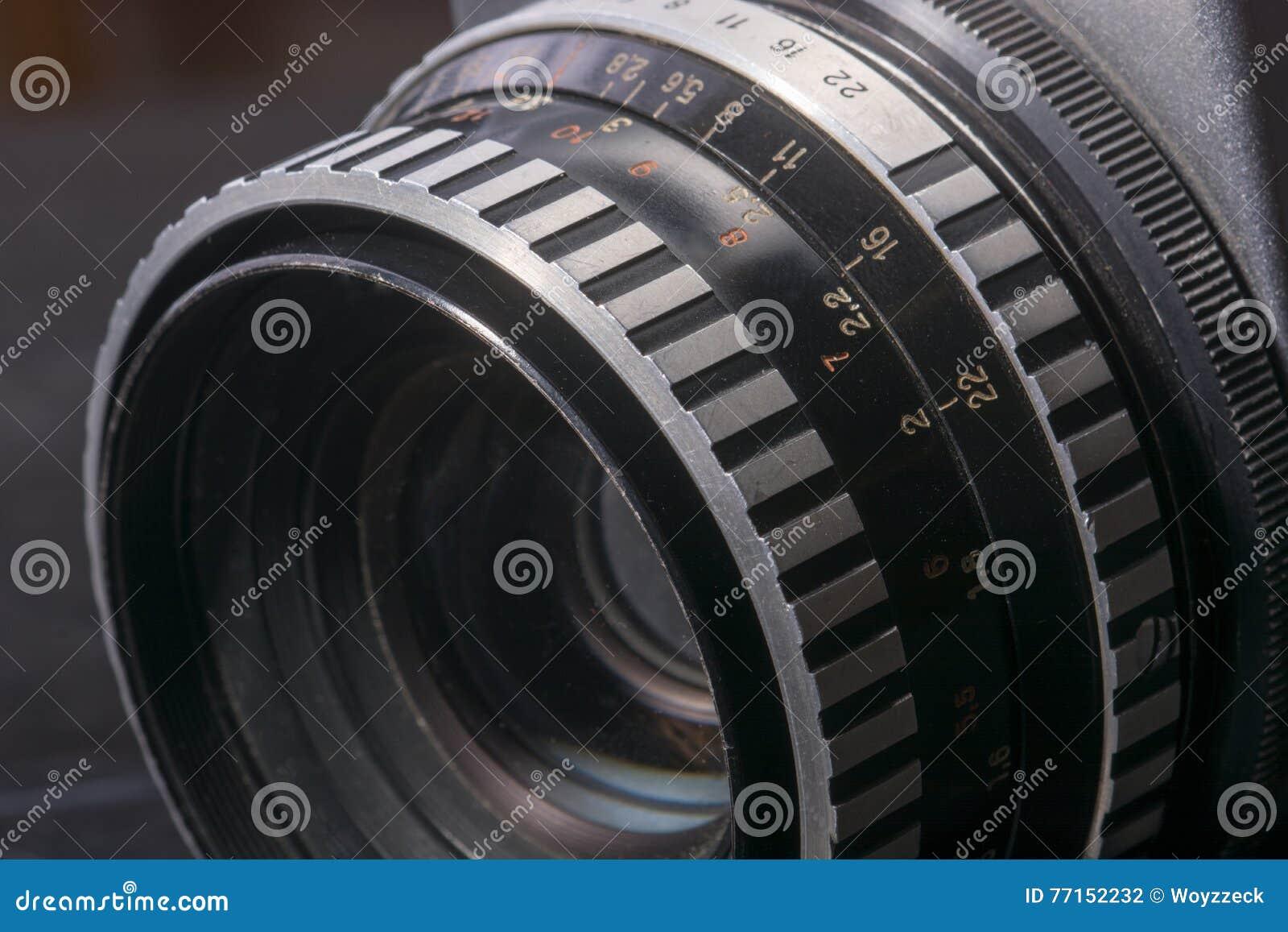 Détail de vieil appareil-photo analogue de photo