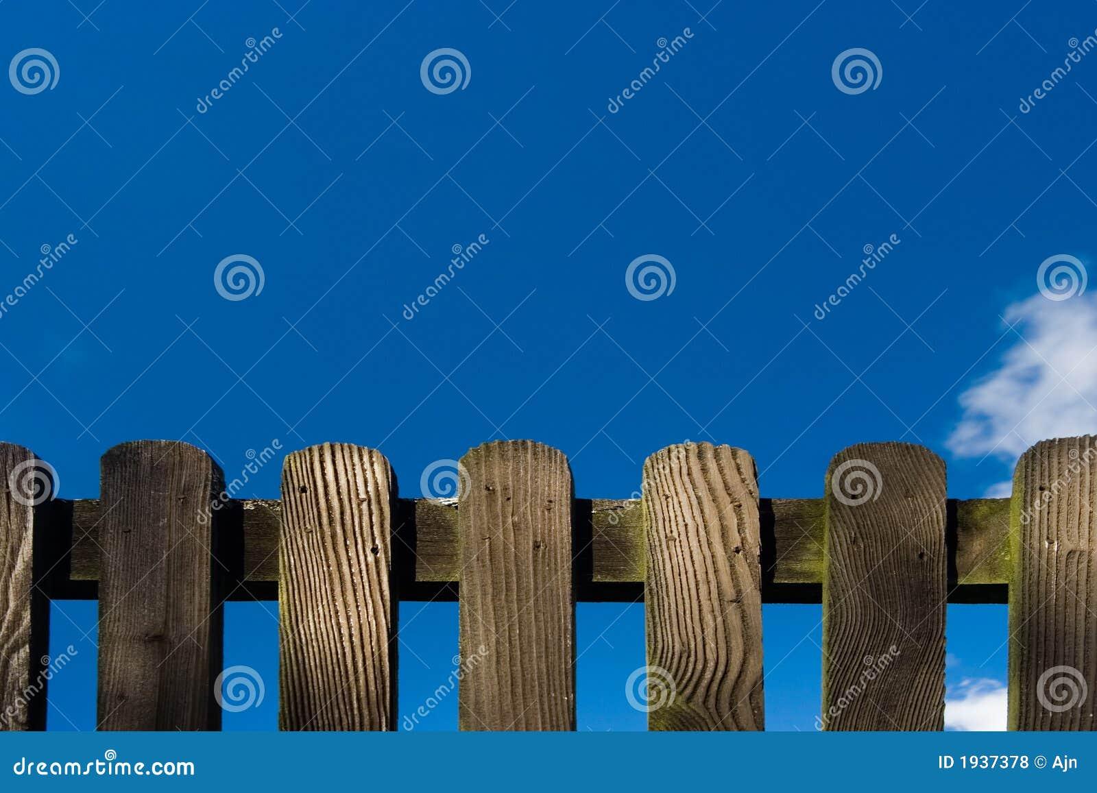 Détail en bois de frontière de sécurité