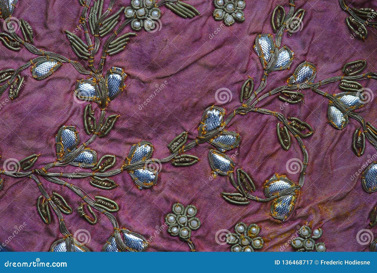 Détail indien de patchwork, métiers traditionnels