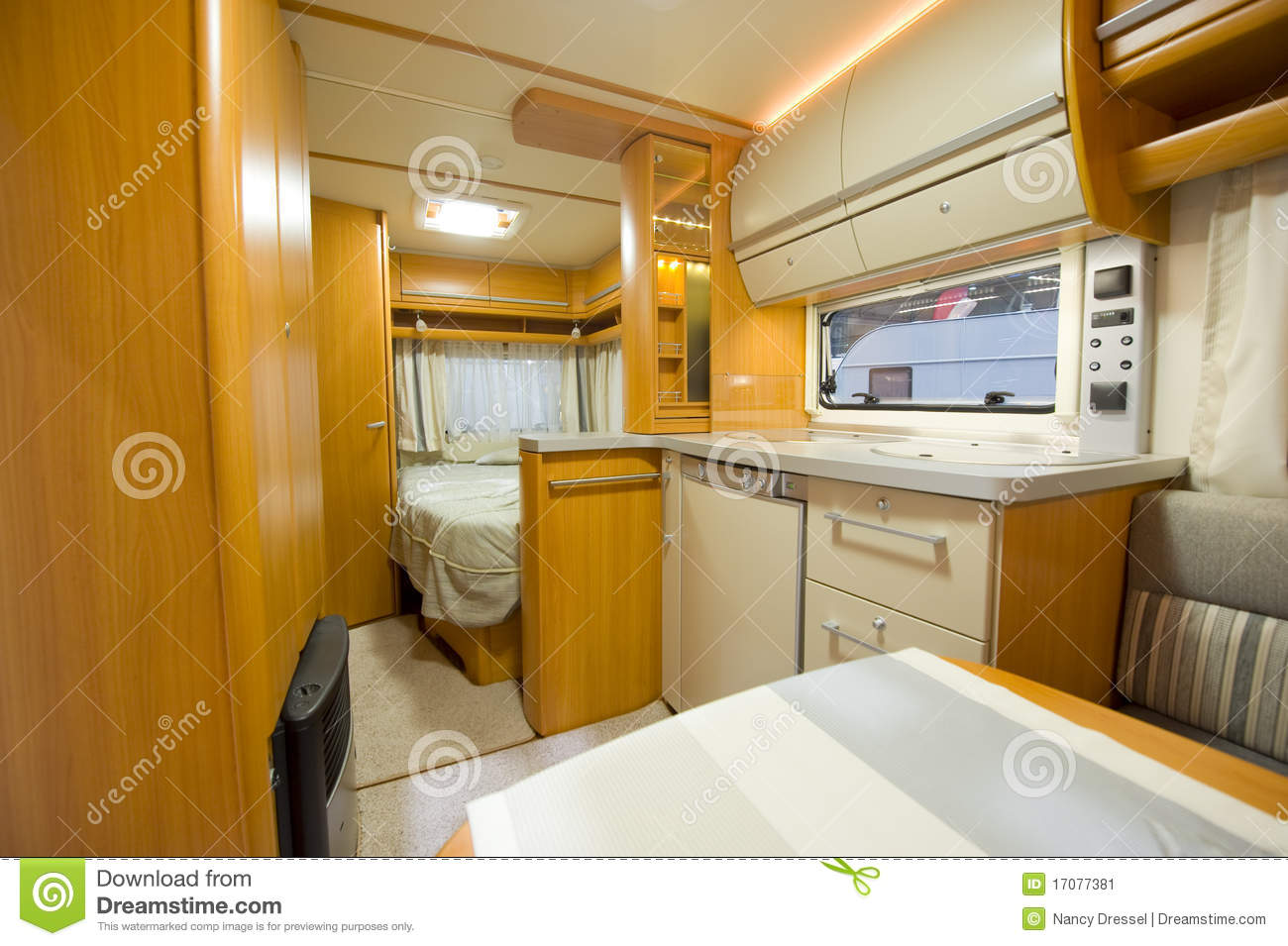 D tail int rieur de camping car image stock image 17077381 for Interieur de camping car