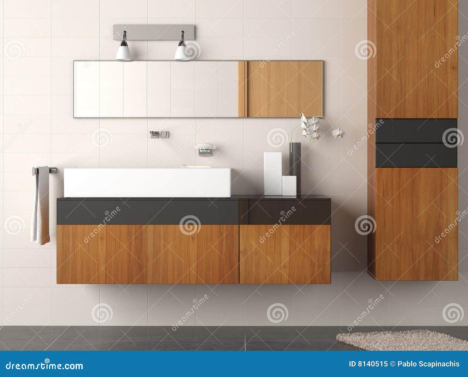 Détail moderne de salle de bains
