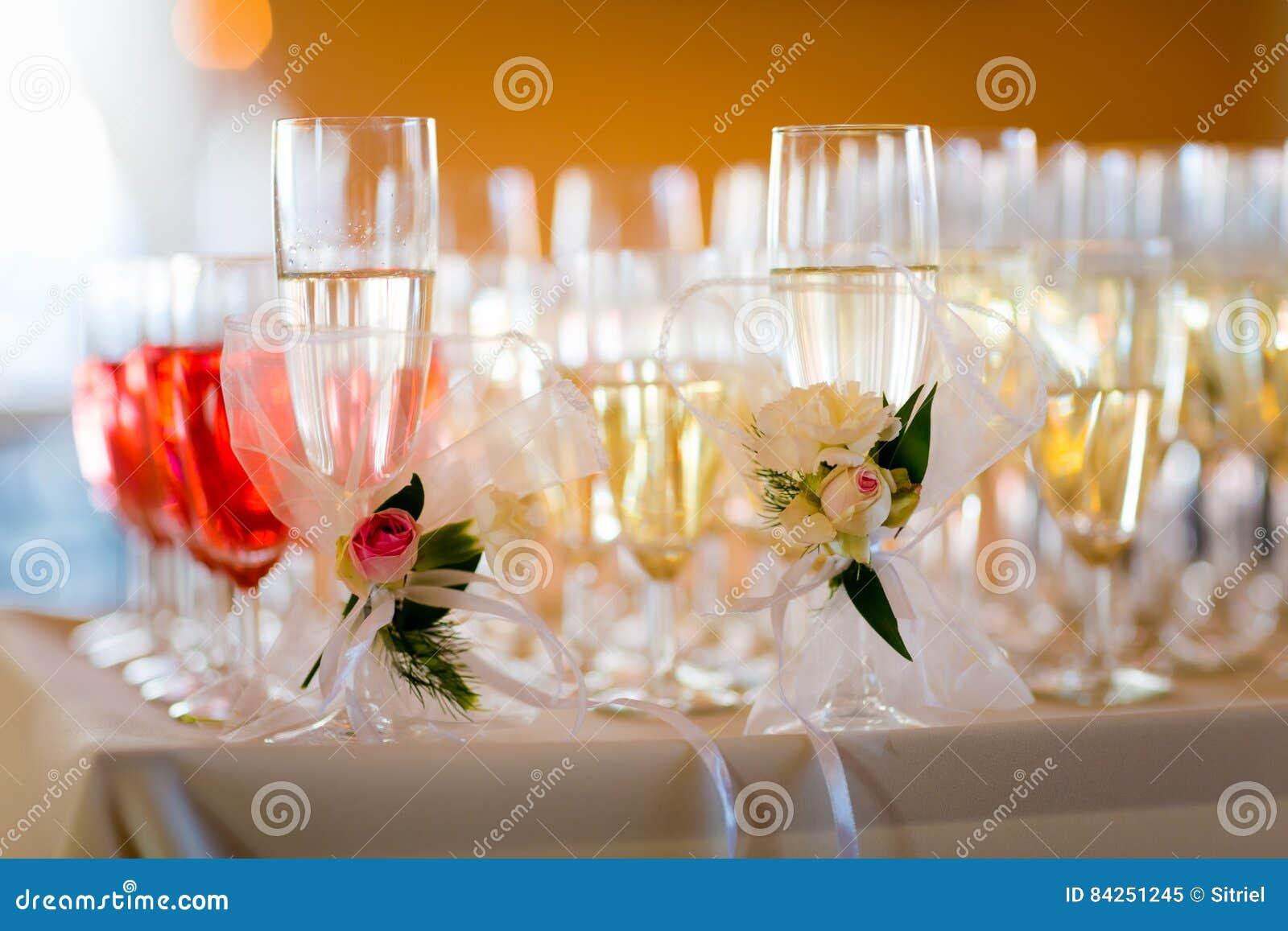 Detail Polonais Traditionnel De Champagne De Mariage Image
