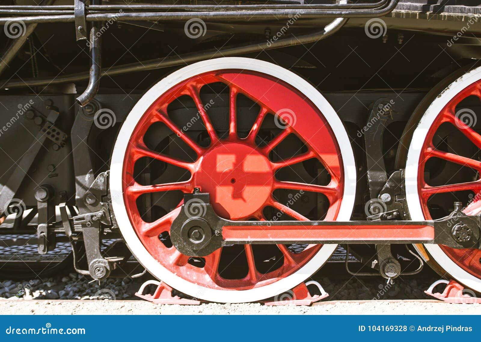 Détails de locomotive à vapeur polonaise