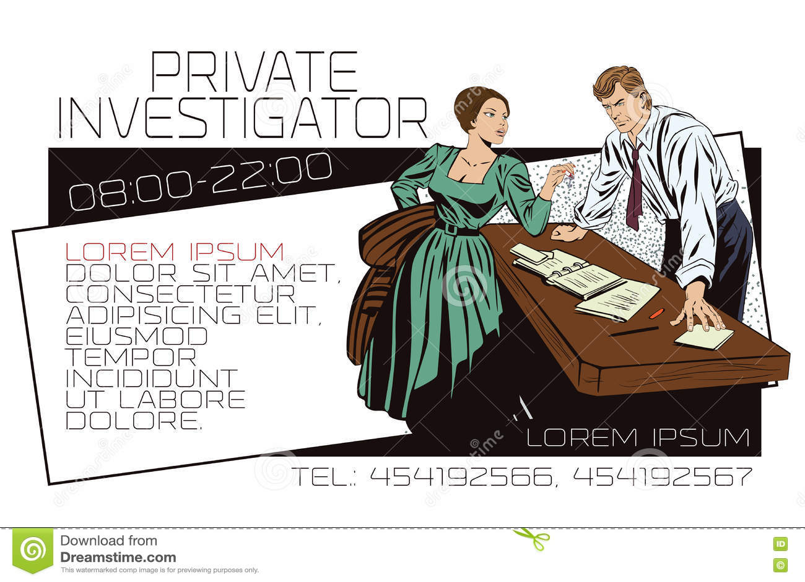Detective Prive Et Fille Annonces De Calibre Ou Carte Visite Professionnelle