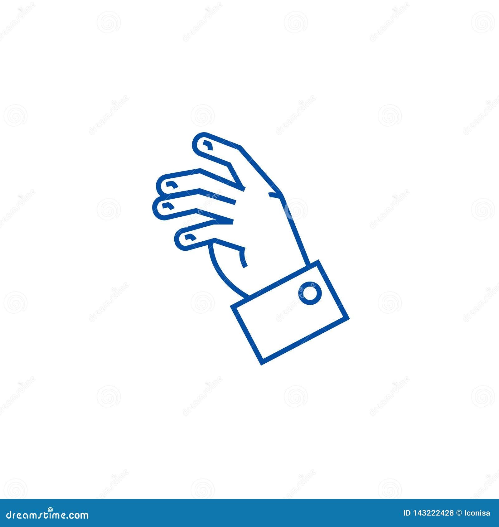 Détendez la canne à pêche concept d icône Détendez le symbole plat de vecteur de main, signe, illustration d ensemble
