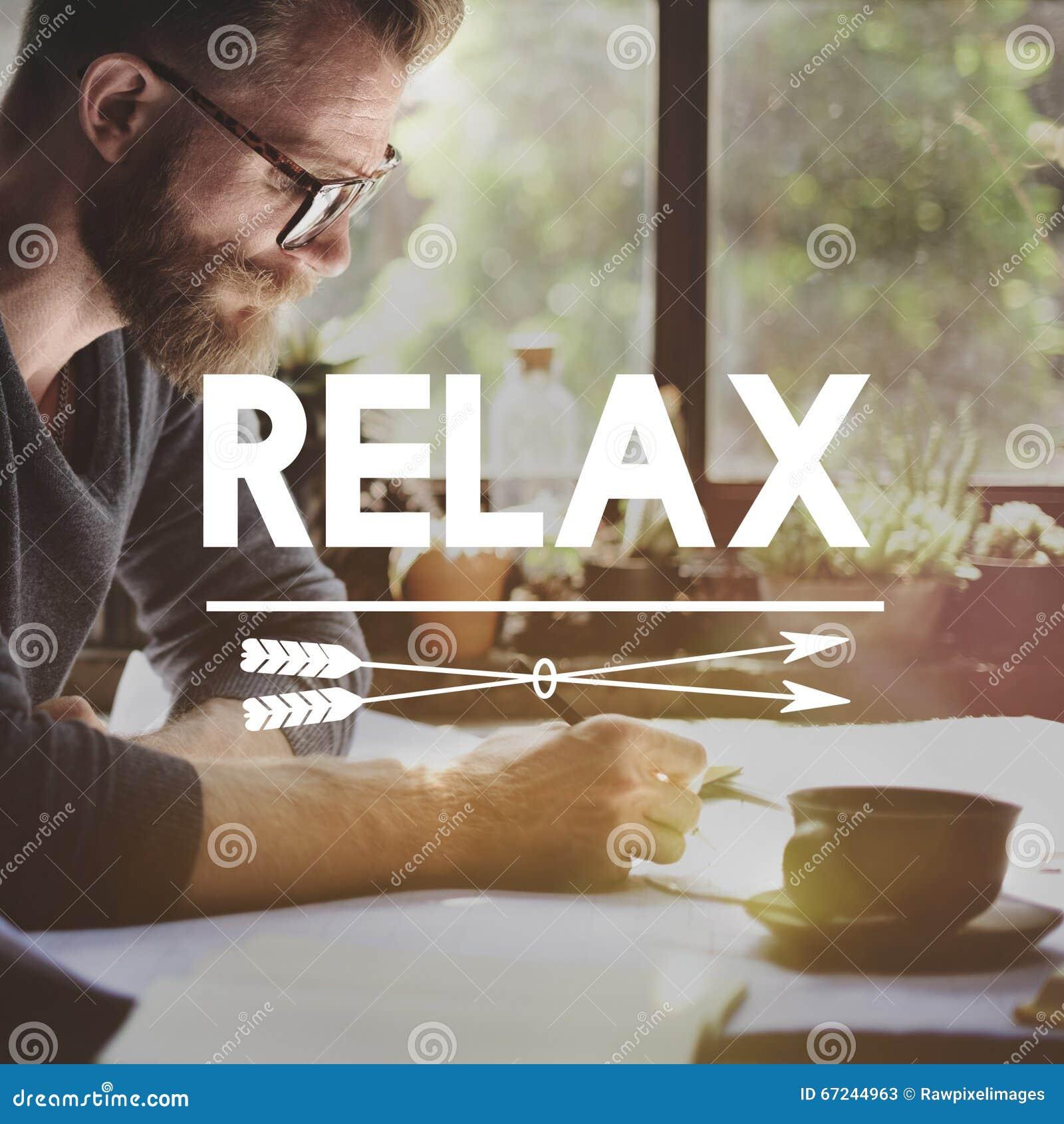 Détendez le concept de sérénité de paix de liberté de repos de relaxation