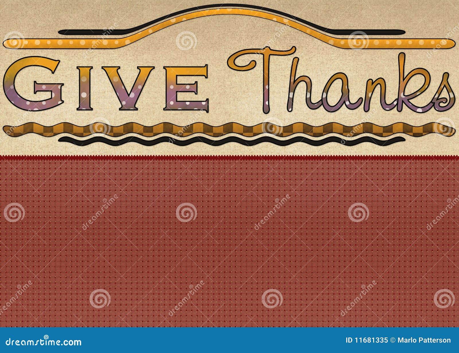 Dê o cartão dos agradecimentos