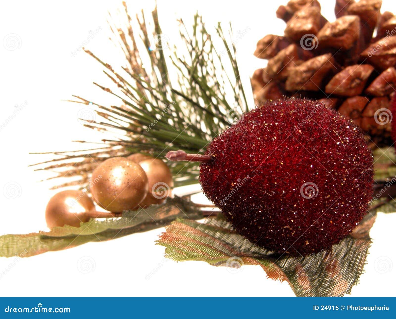 Día de fiesta: Decoraciones artificiales de la Navidad