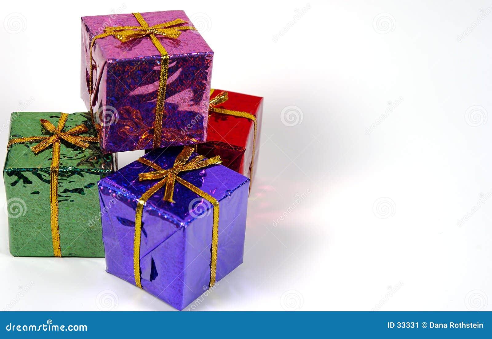 Download Día de fiesta Giftboxes imagen de archivo. Imagen de presente - 33331