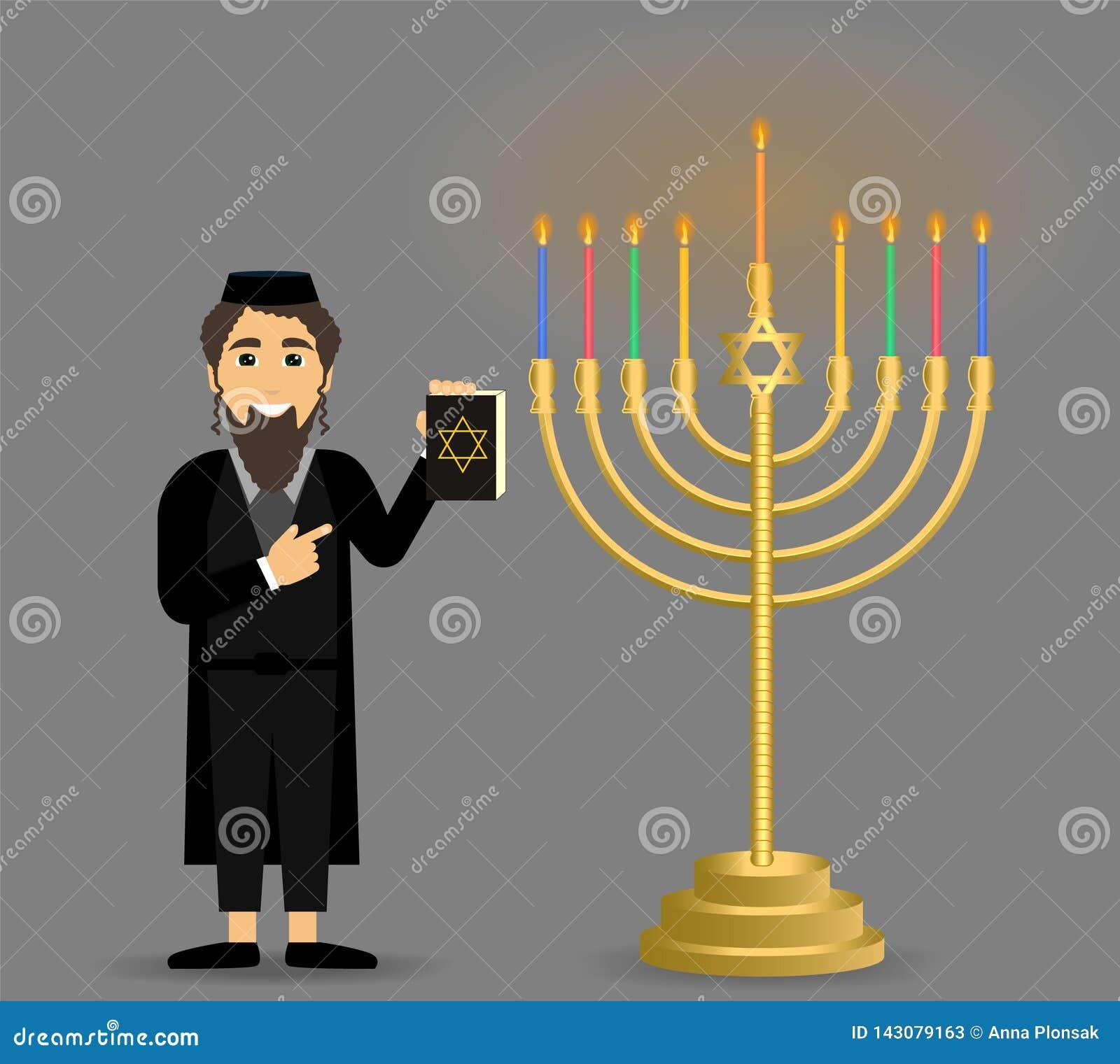 Día de fiesta de Jánuca judaísmo El concepto de una palmatoria del judío y de Jánuca
