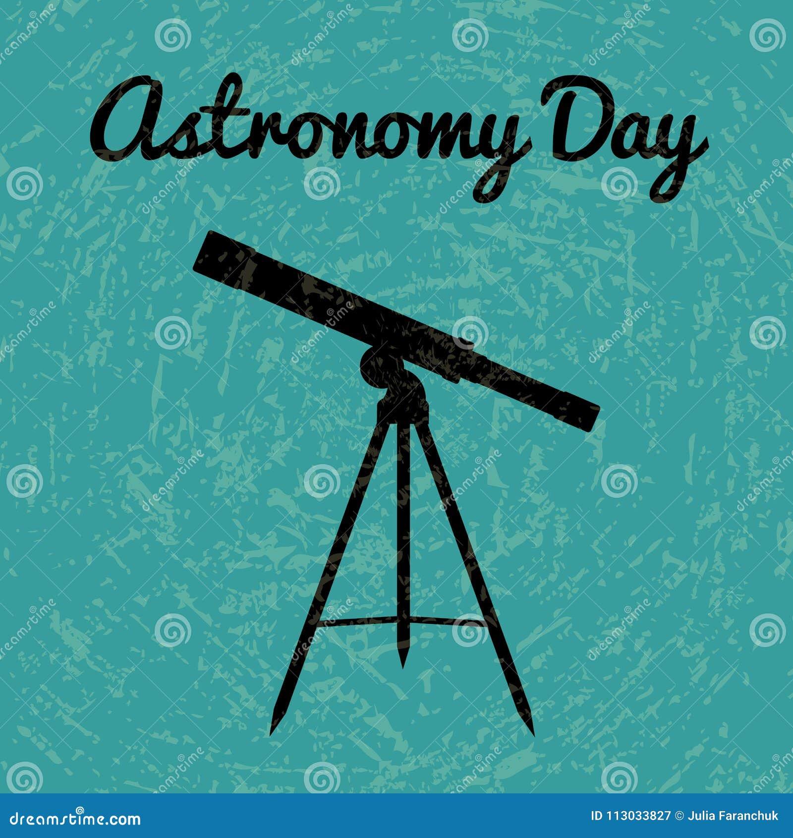 Día de la astronomía Silueta de un telescopio